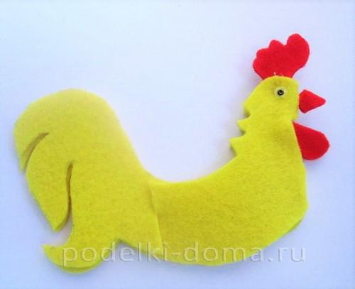 подставка для яйца петушок из фетра 12