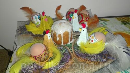 подставки для яиц из лотка курочки