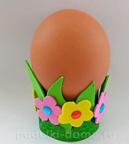 поставка под яйцо бумага и фоамиран 07