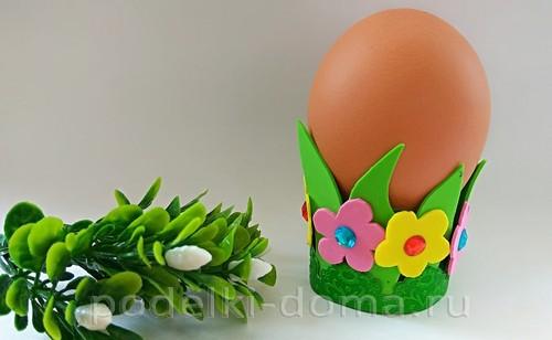 поставка под яйцо бумага и фоамиран 08