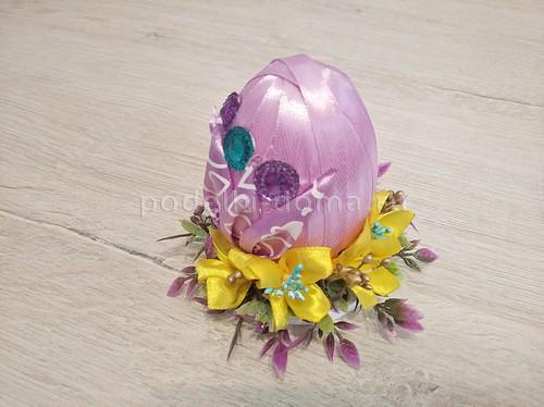 Пасхальное яйцо из лент - 3 варианта