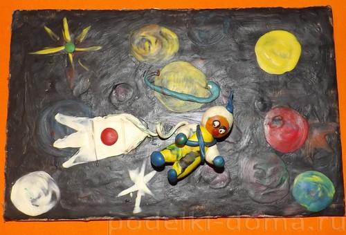 kosmos-iz-plastelina Сучкова Анастасия