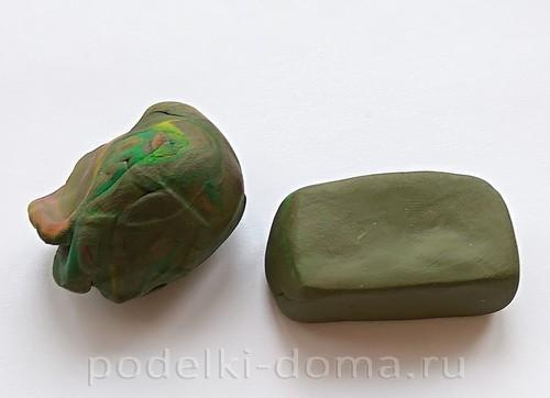 танк из пластилина 03