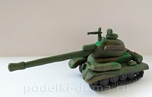 танк из пластилина 09