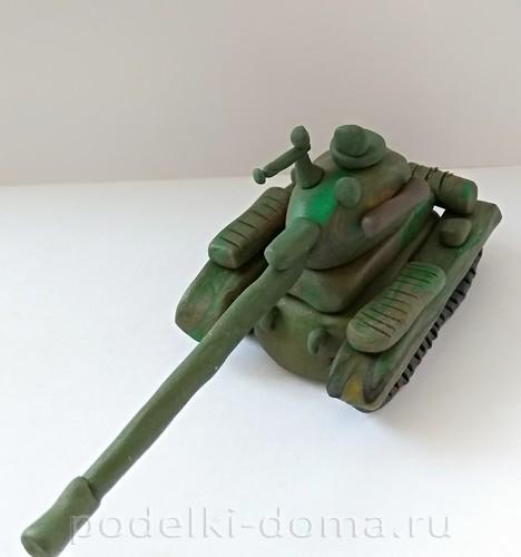 танк из пластилина 10