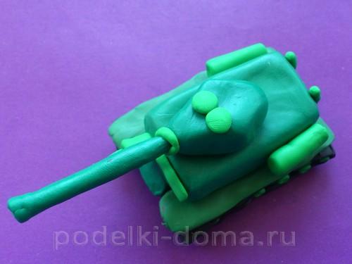 танк из пластилина Т-3414