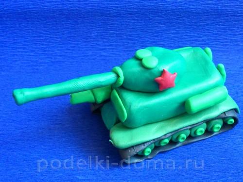 танк из пластилина Т-3415