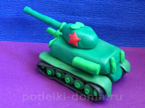 танк из пластилина Т-3417