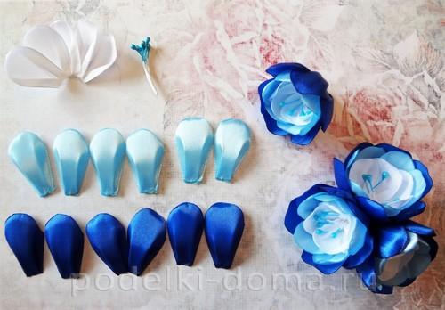 цветы из атласных лент 04