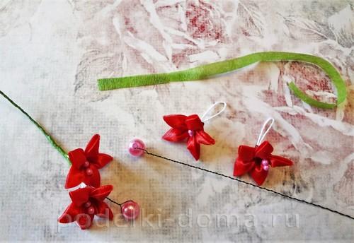 цветы из атласных лент 06