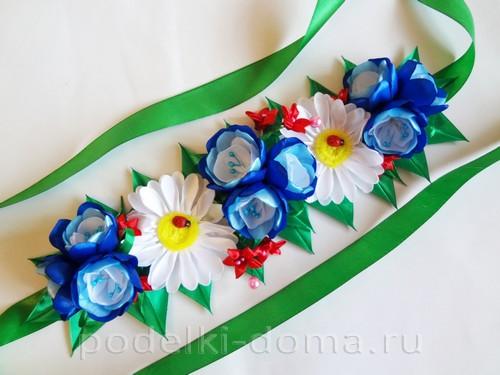 цветы из атласных лент 11