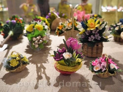 цветы из гофробумаги11