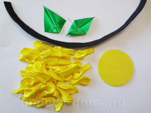 tsvetyi-iz-lent-na-korzinku02 Корзины канзаши с цветами из атласных лент