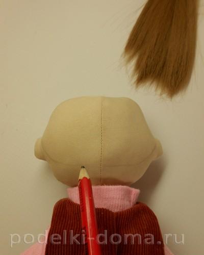 Волосы кукле пришить