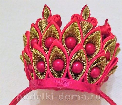 корона из лент канзаши46