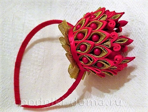 корона из лент канзаши