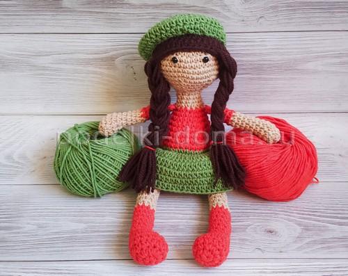 Куколки, вязаные крючком, в технике амигуруми