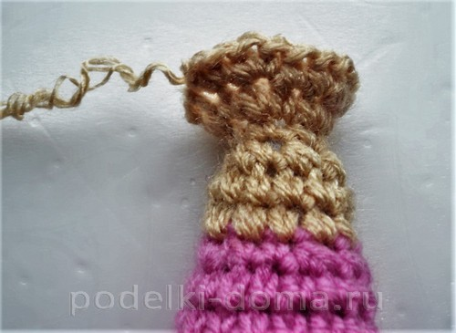 куколка амигуруми крючком04