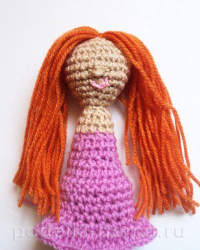 куколка амигуруми крючком08
