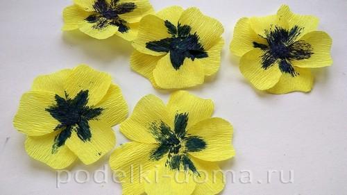 бумажные цветы анютины глазки 04