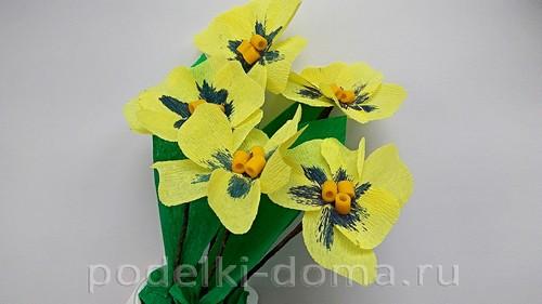 бумажные цветы анютины глазки 07