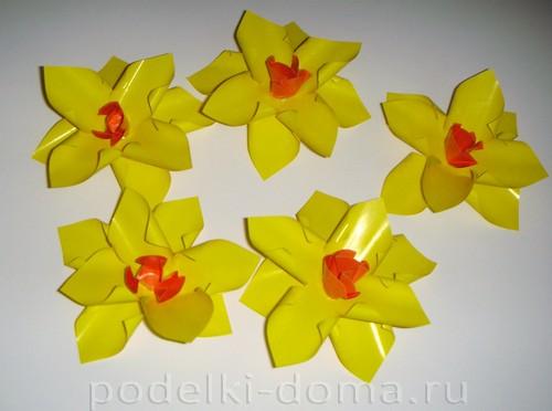 бумажные цветы нарциссы07
