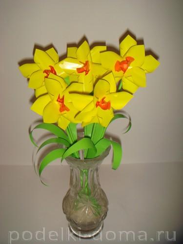 бумажные цветы нарциссы15