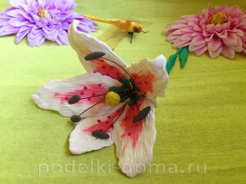 лилия из пластилина14