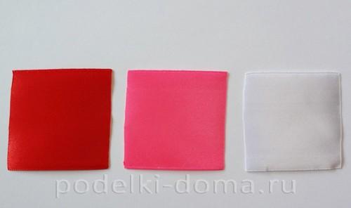 розовый цветок канзаши01