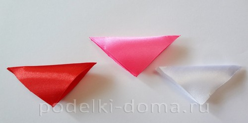 розовый цветок канзаши02
