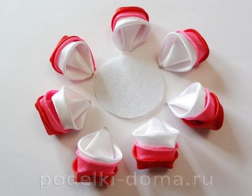 розовый цветок канзаши06