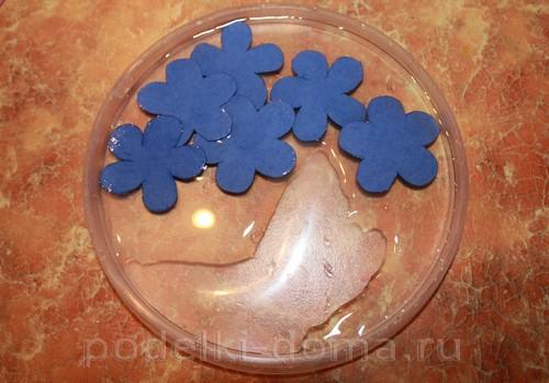 цветочки из акварельной бумаги 02