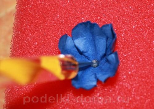 цветочки из акварельной бумаги 05