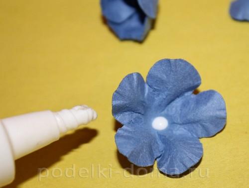 цветочки из акварельной бумаги 08