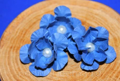 цветочки из акварельной бумаги 11