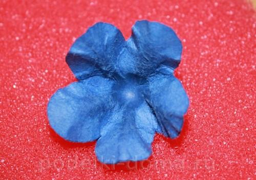 цветочки из акварельной бумаги 12