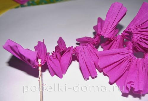 цветы из гофробумаги16