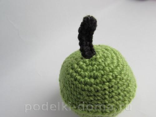 вязаная шкатулка яблоко крючком11