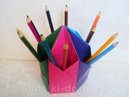 карандашница из бумаги08