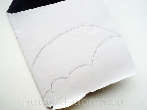летучая мышь из бумаги 06