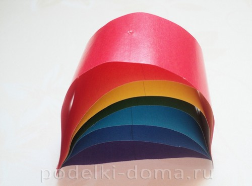 поделка радуга из бумаги 09