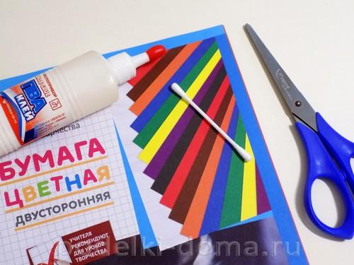 поделка зонтик из бумаги 02