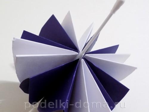 поделка зонтик из бумаги 09