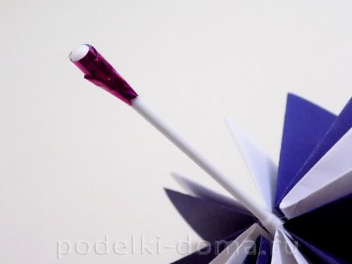 поделка зонтик из бумаги 10