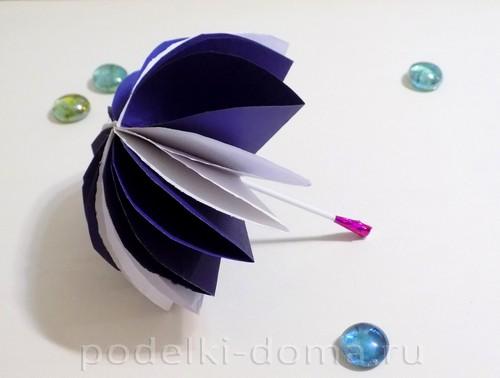 поделка зонтик из бумаги 11