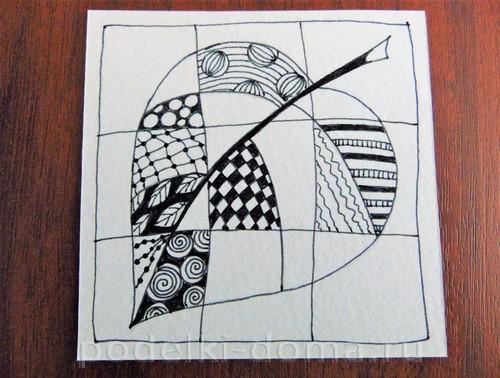 рисуем лист 08