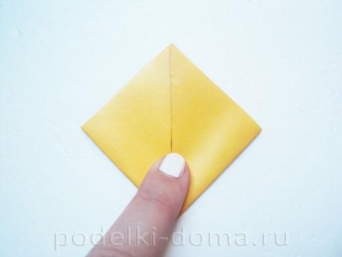 закладка из бумаги собачка 03