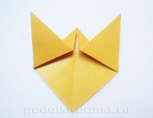 закладка из бумаги собачка 04