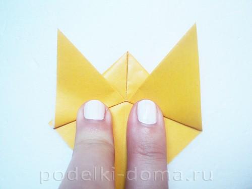 закладка из бумаги собачка 05