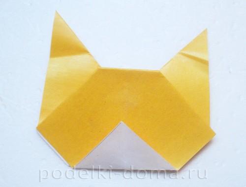 закладка из бумаги собачка 08